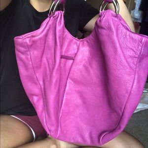 Elliot Lucca magenta purple hobo handbag
